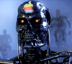 Fun Fact: the Apple II start up display is used as the T-800 visual display in 'The Terminator.'
