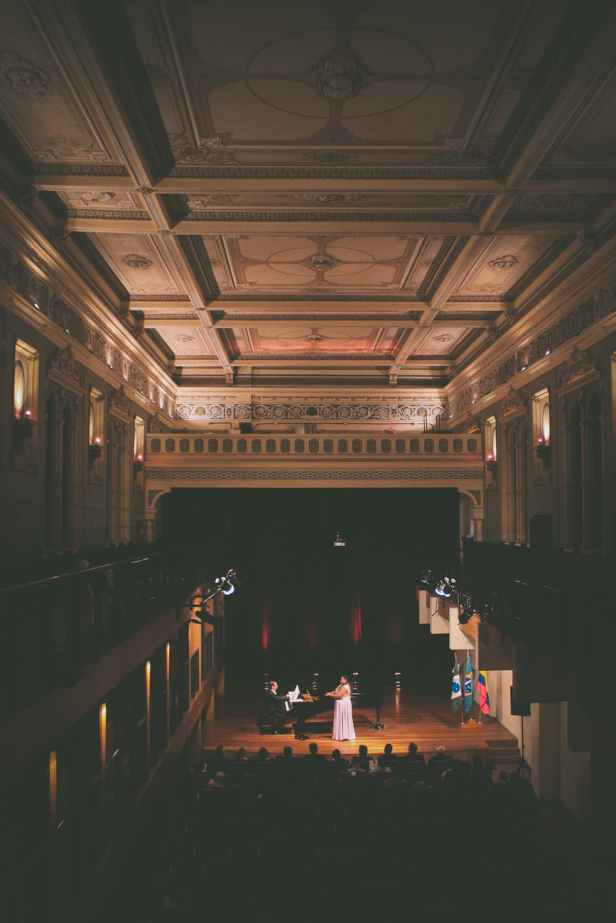 people performing in opera house